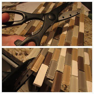 how to trim glass tiles