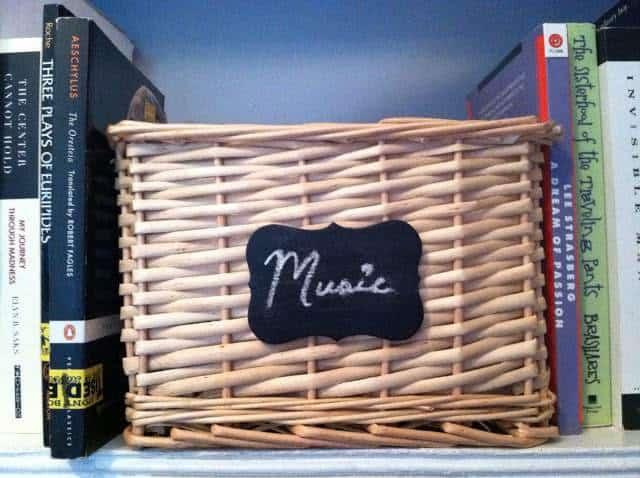 Chalkboard Label Basket