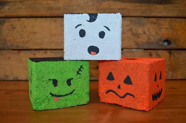 Halloween Face Blocks