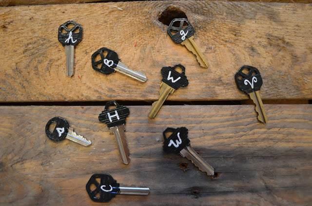 Chalkboard Keys