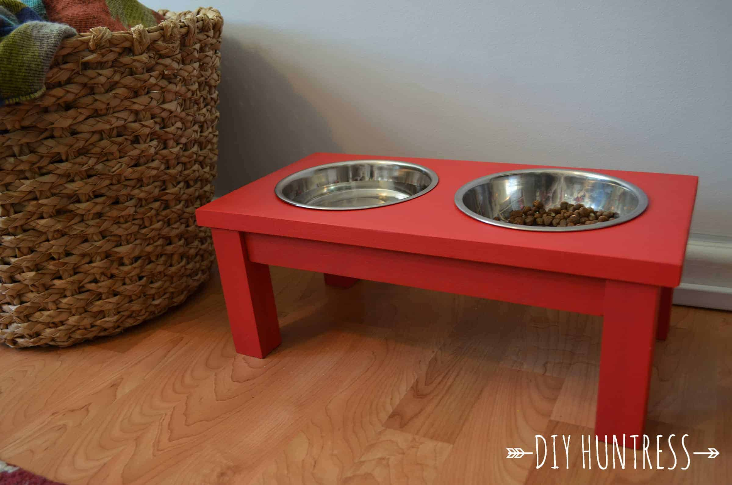 Diy Dog Bowl Stand Diy Huntress
