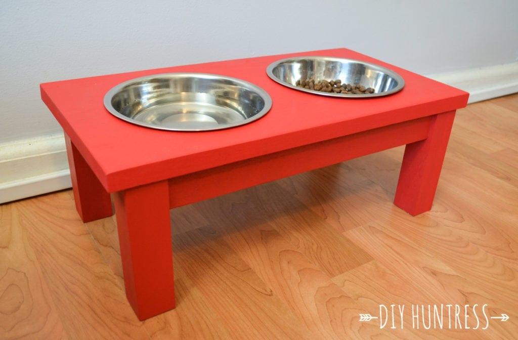 DIY Dog Bowl Stand - DIY Huntress