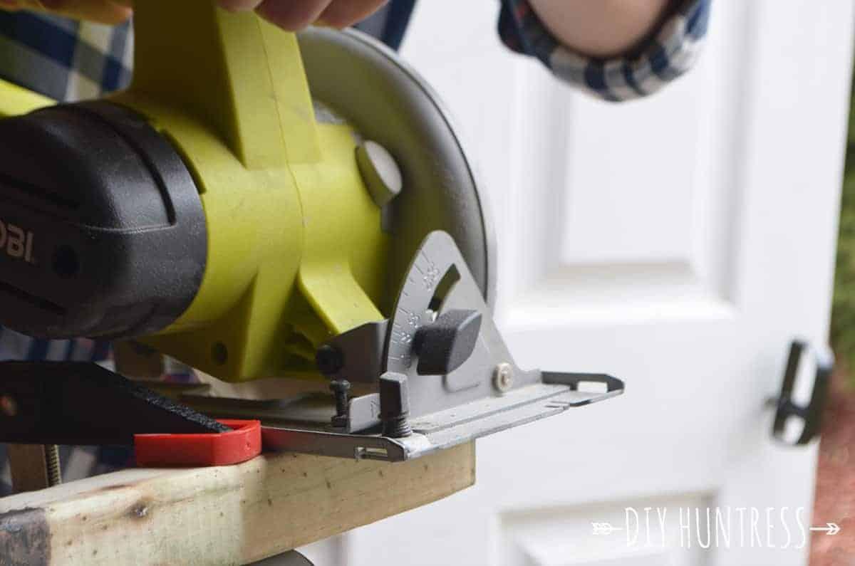 how to make wooden door mat