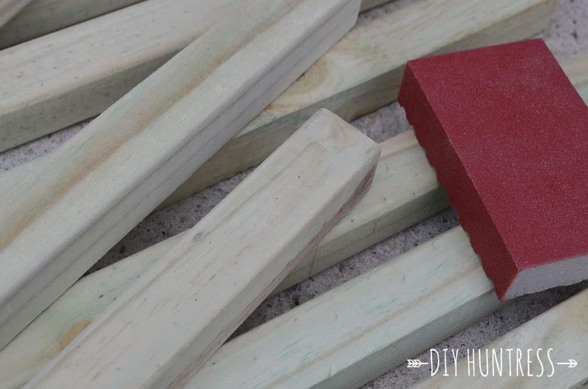 wood dowel door mat