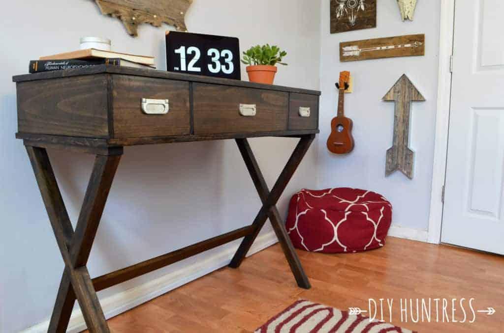 Diy X Leg Desk With Drawers