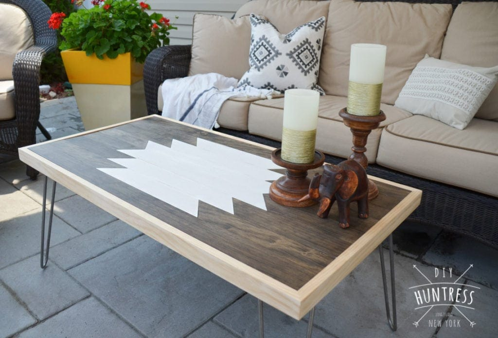 DIY Geometric Wood Art Table DIY Geometric