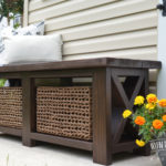 DIY Rustic X-Bench (Free Woodworking Plans)