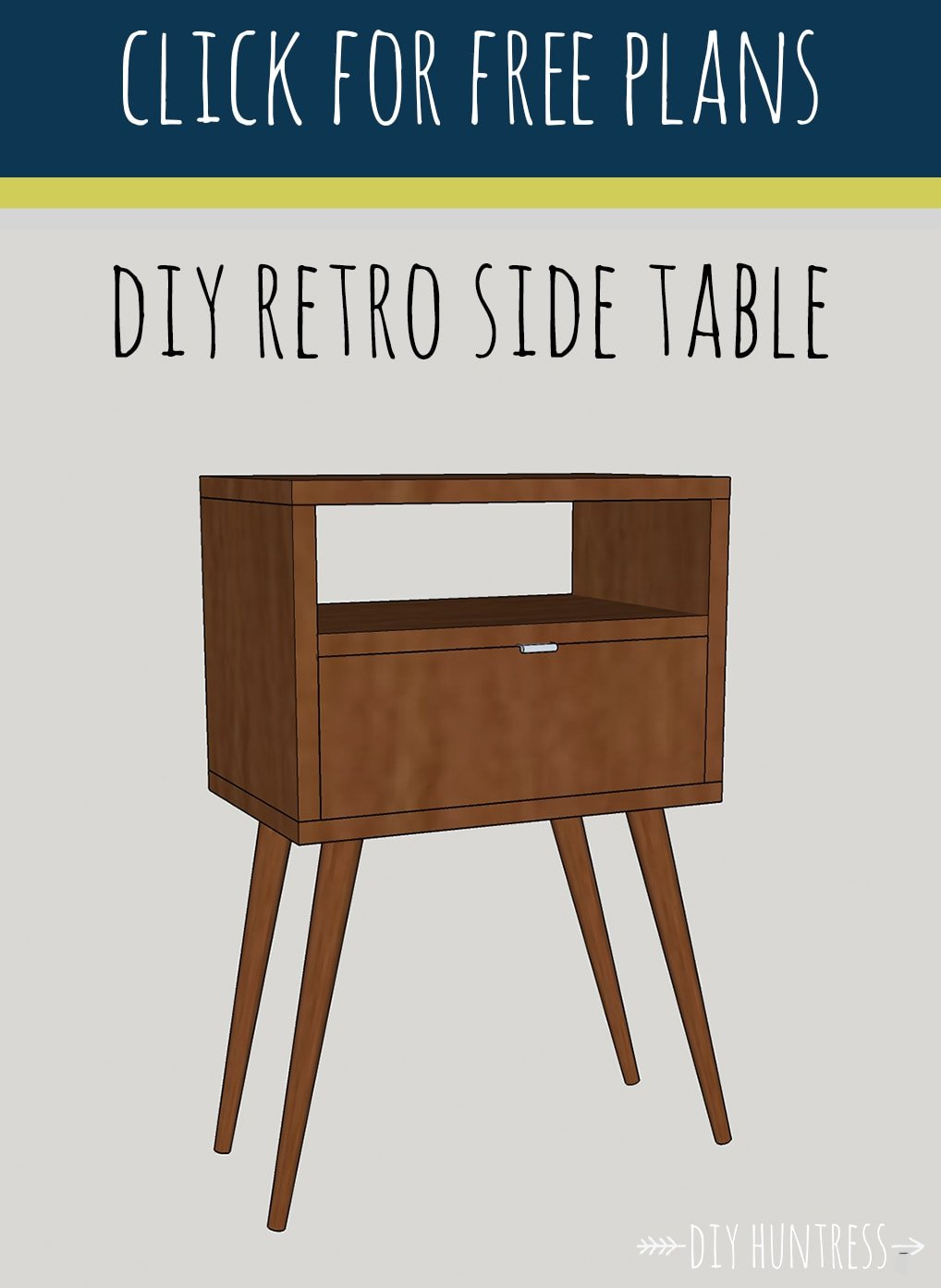 DIY Retro Side Table Huntress