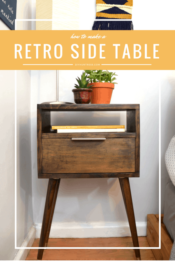 Diy retro side table diy huntress for Retro side table