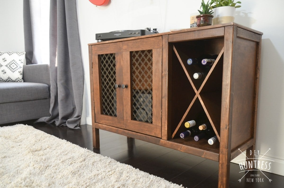 Diy Sideboard Record Cabinet With Wine Storage Free Plans