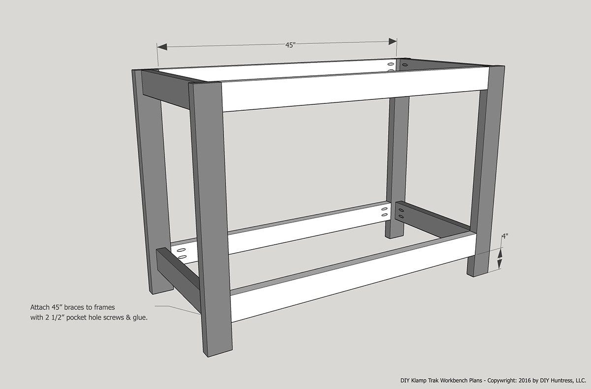 Awesome Diy Kreg Klamp Track Workbench Diy Huntress Download Free Architecture Designs Embacsunscenecom