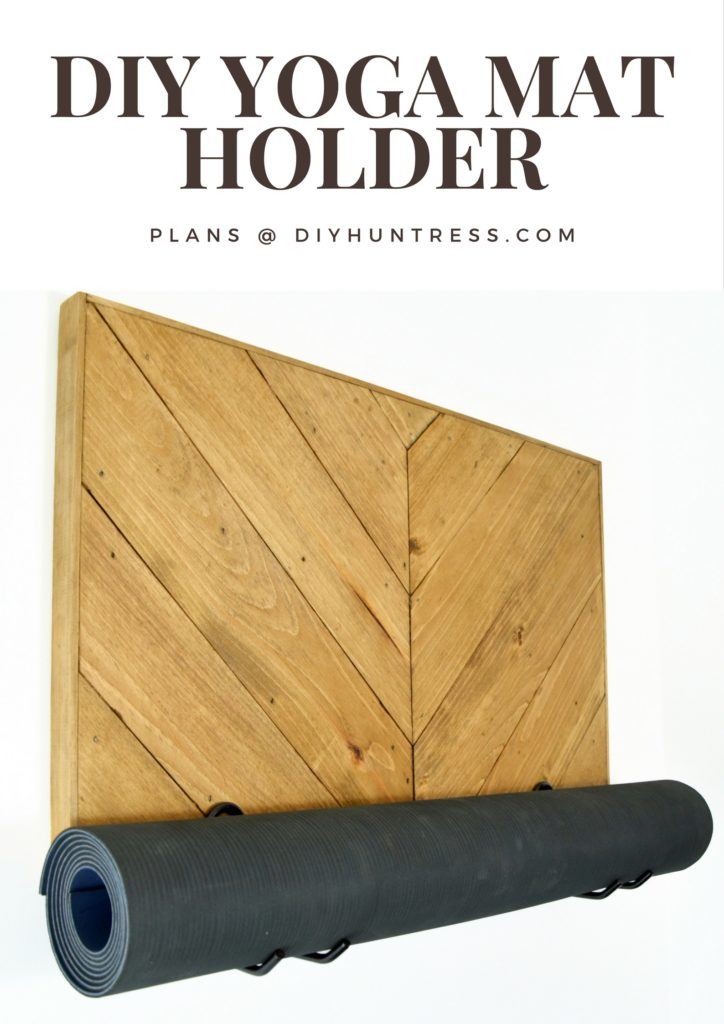 diy yoga mat holder pinterest