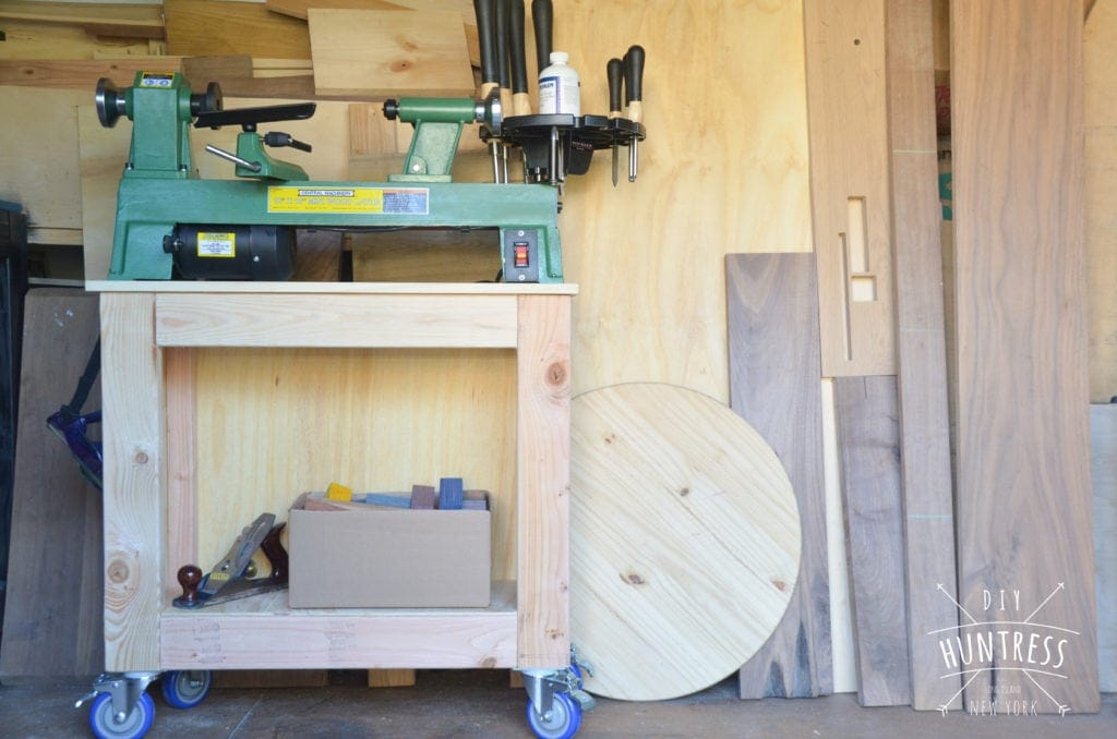how to build a lathe stand