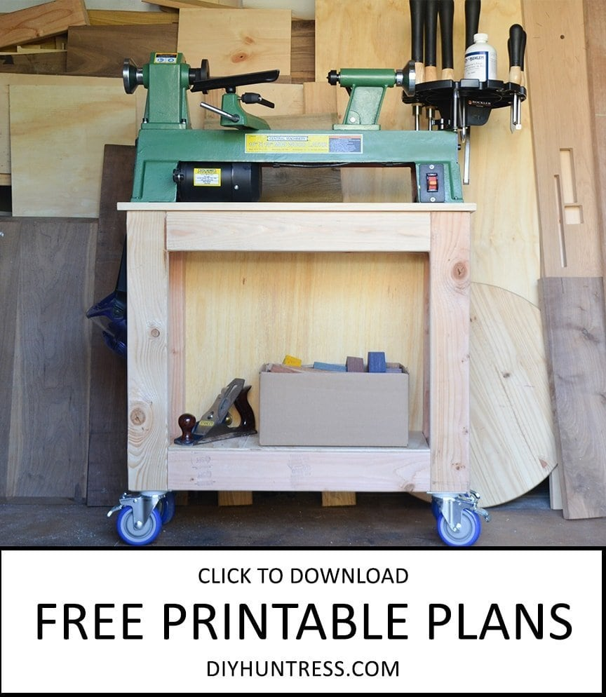 free woodworking plans lathe stand