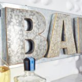 DIY Metal Bar Sign (No Welding Necessary!)