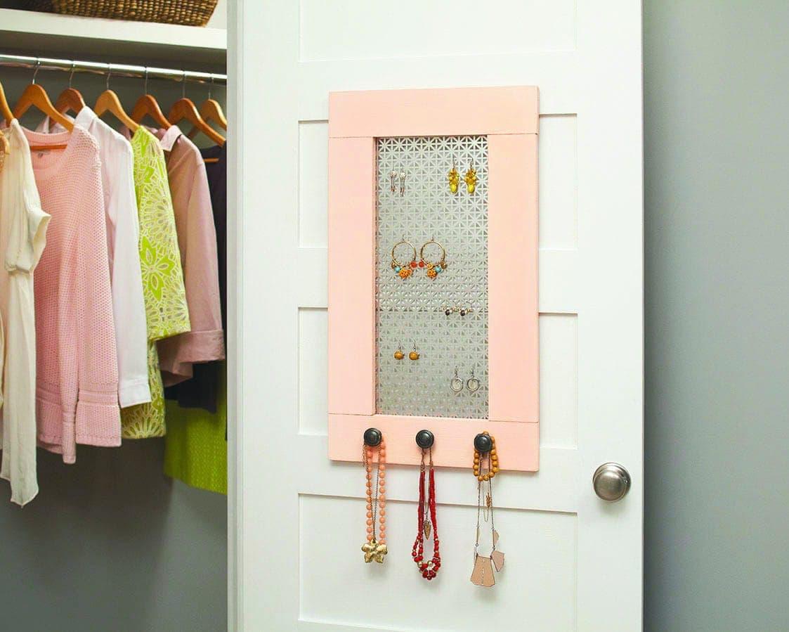 Home Depot DIH Workshop DIY Wooden Jewelry Holder DIY Huntress