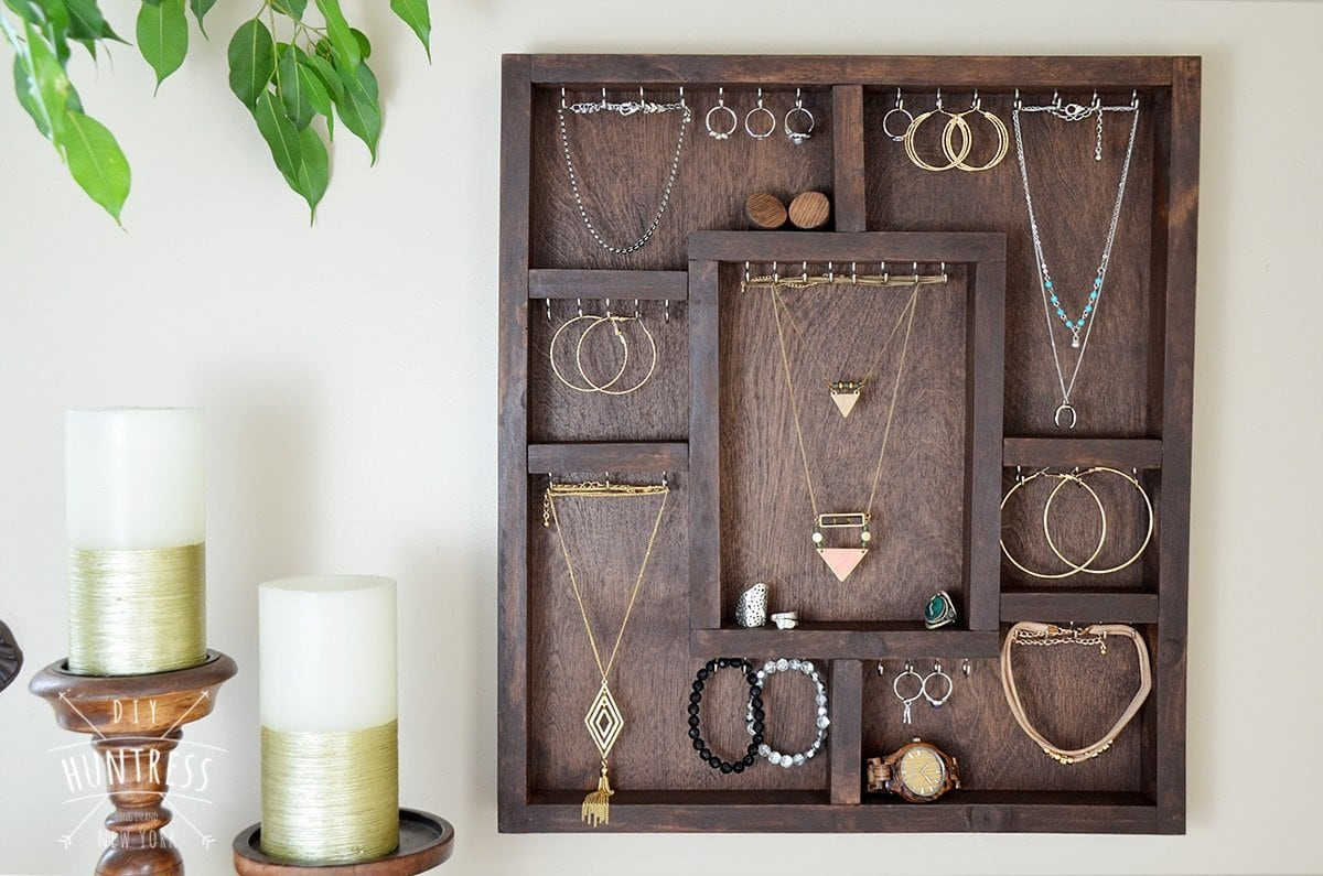 how to make a wooden jewelry holder
