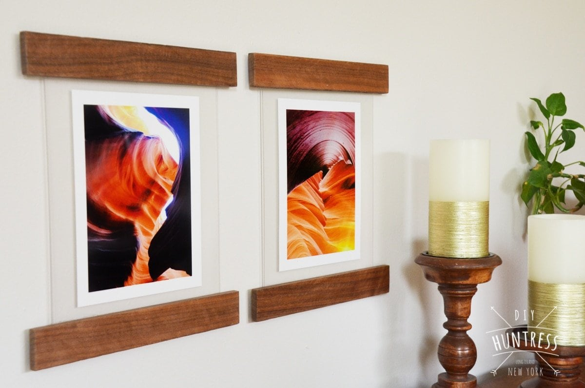 DIY Floating Picture Frames - DIY Huntress