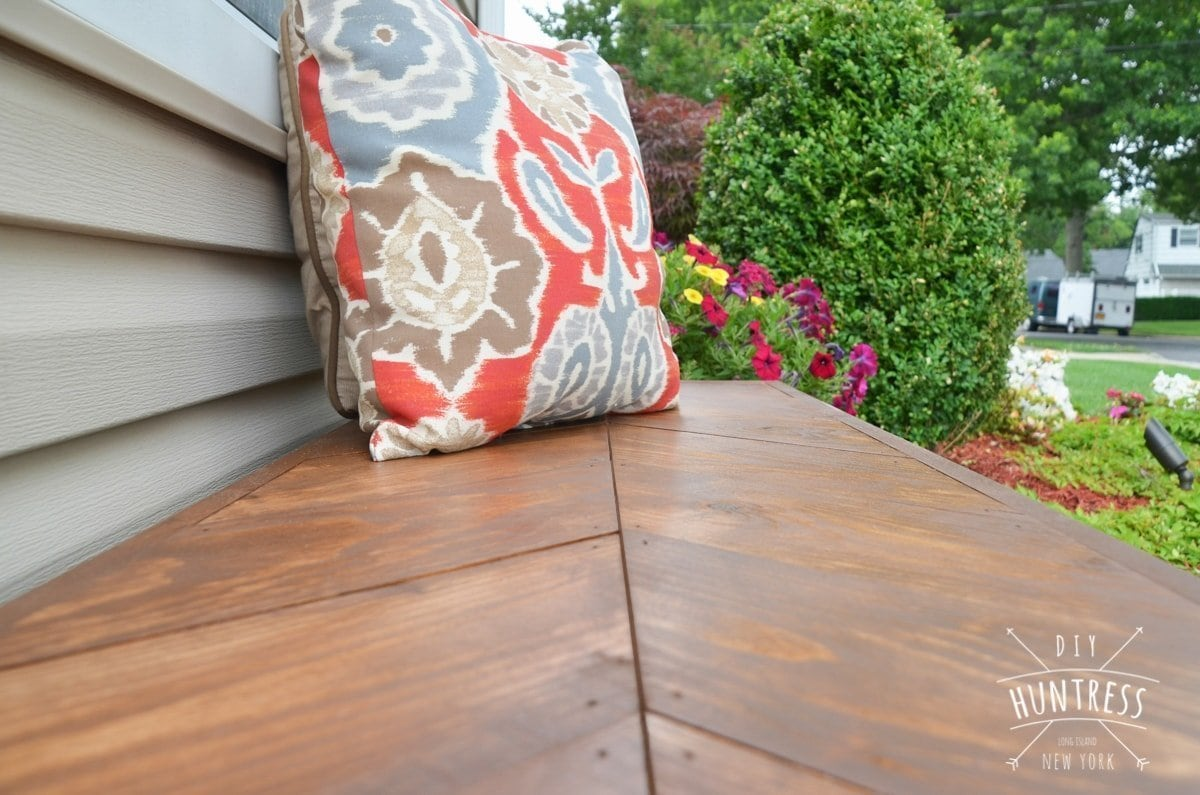 wooden bench front entryway