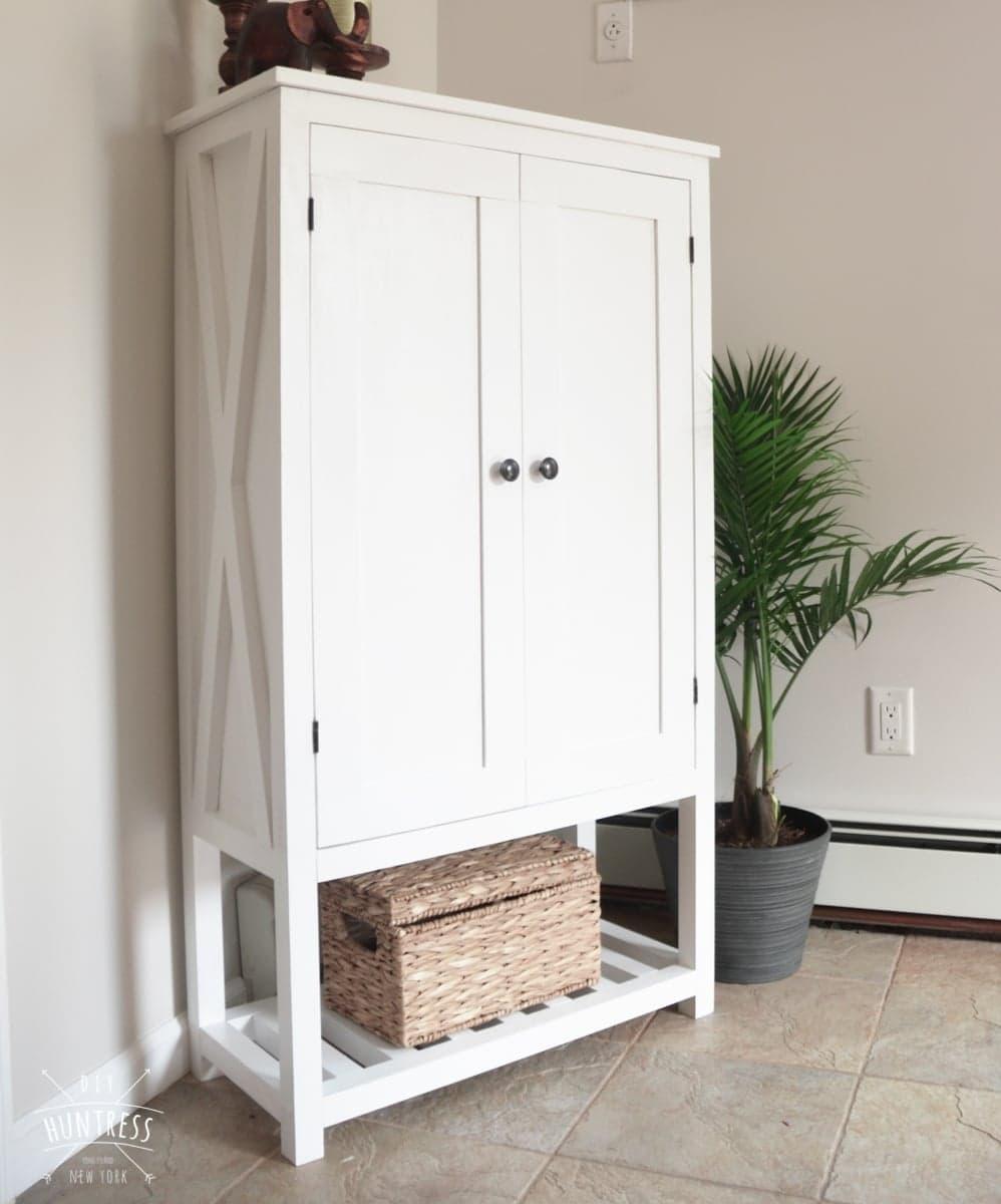 Diy Wooden Storage Cabinet Diy Huntress