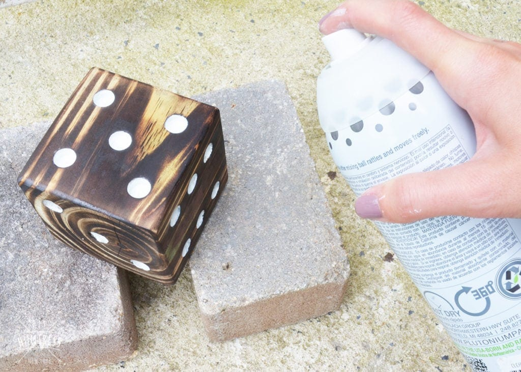 custom wooden lawn dice game