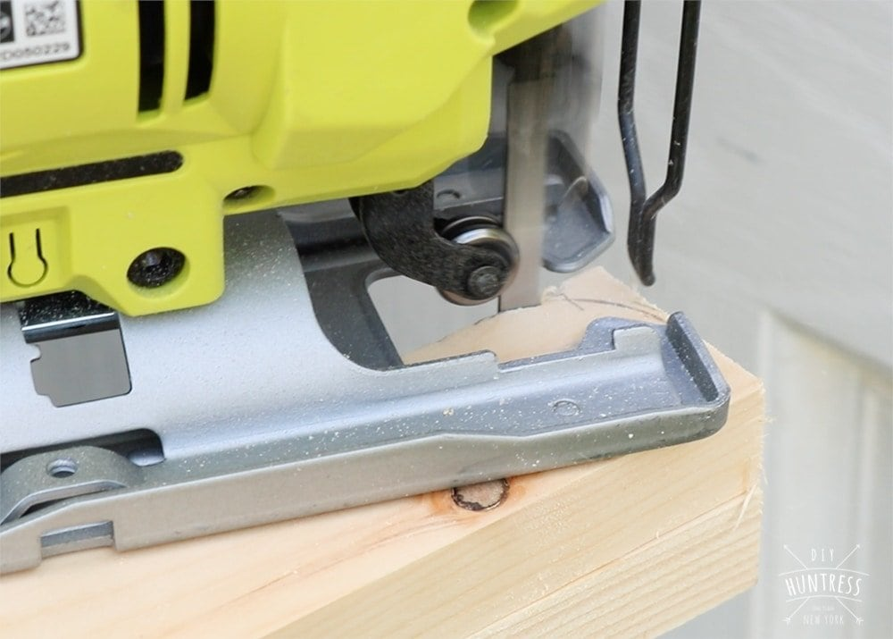 how to cut rounded wood