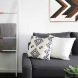 DIY Contemporary Blanket Ladder (West Elm Knockoff)