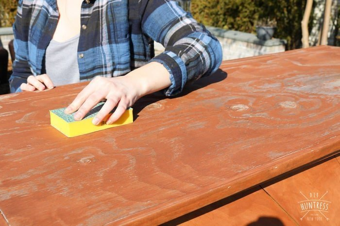 how to refinish outdoor wood