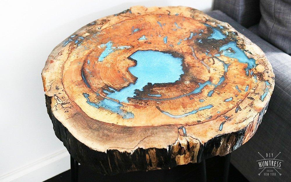 DIY Live Edge Resin Table - DIY Huntress