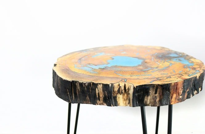 diy resin and wood table