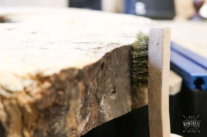how to debark wood