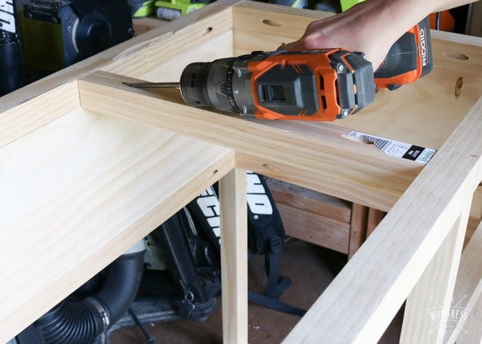 how to build a kitchen cart