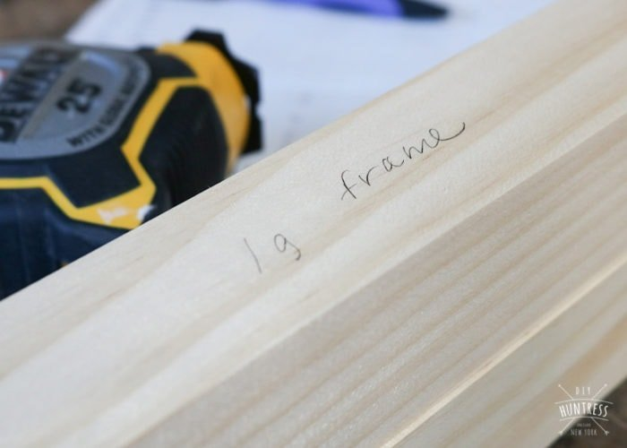 how to label wood pieces