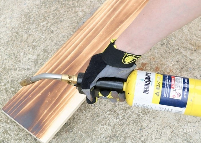 how to torch wood