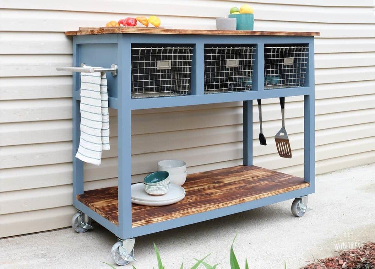DIY Mobile Island/Grill Cart