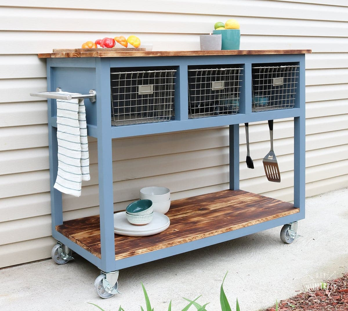 DIY Mobile Island/Grill Cart - DIY Huntress
