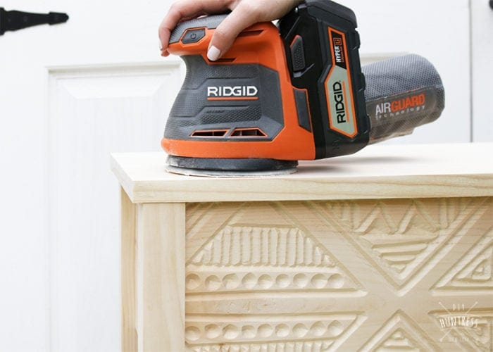 how to sand wood ridgid