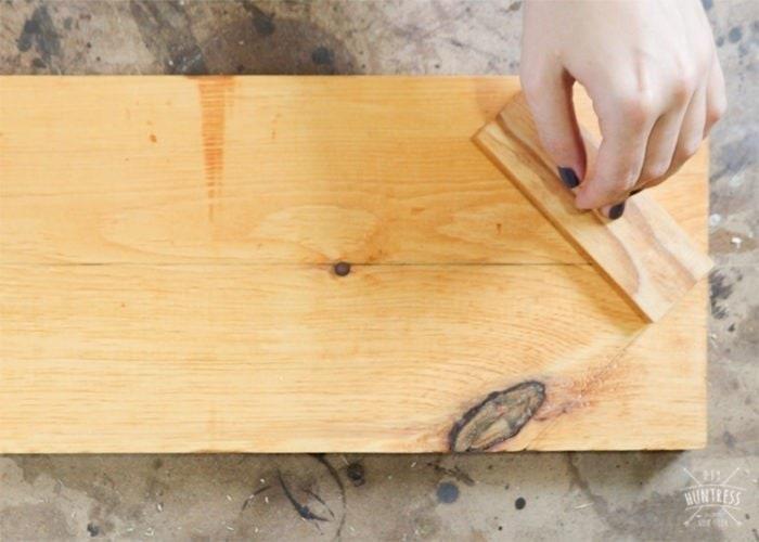 how to make herringbone pattern with wood
