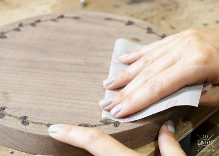 how to burn a design in wood