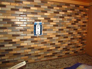 mosaic tile backsplash installation