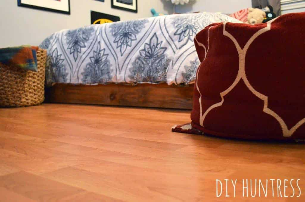 Diy Laminate Floor Tutorial Diy Huntress