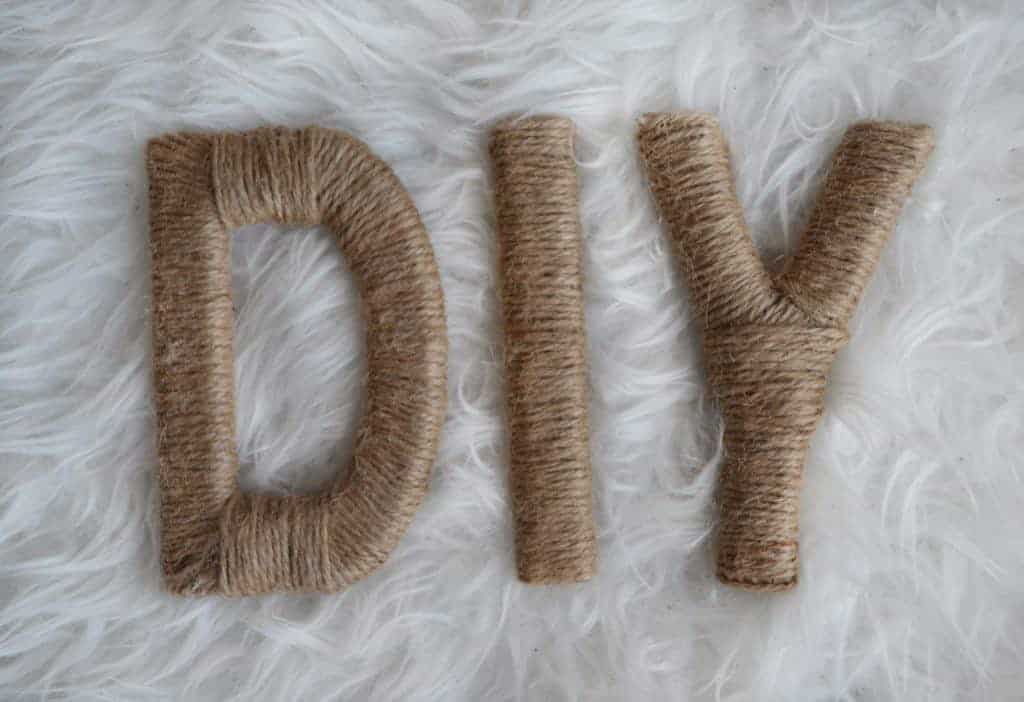 diy twine letters