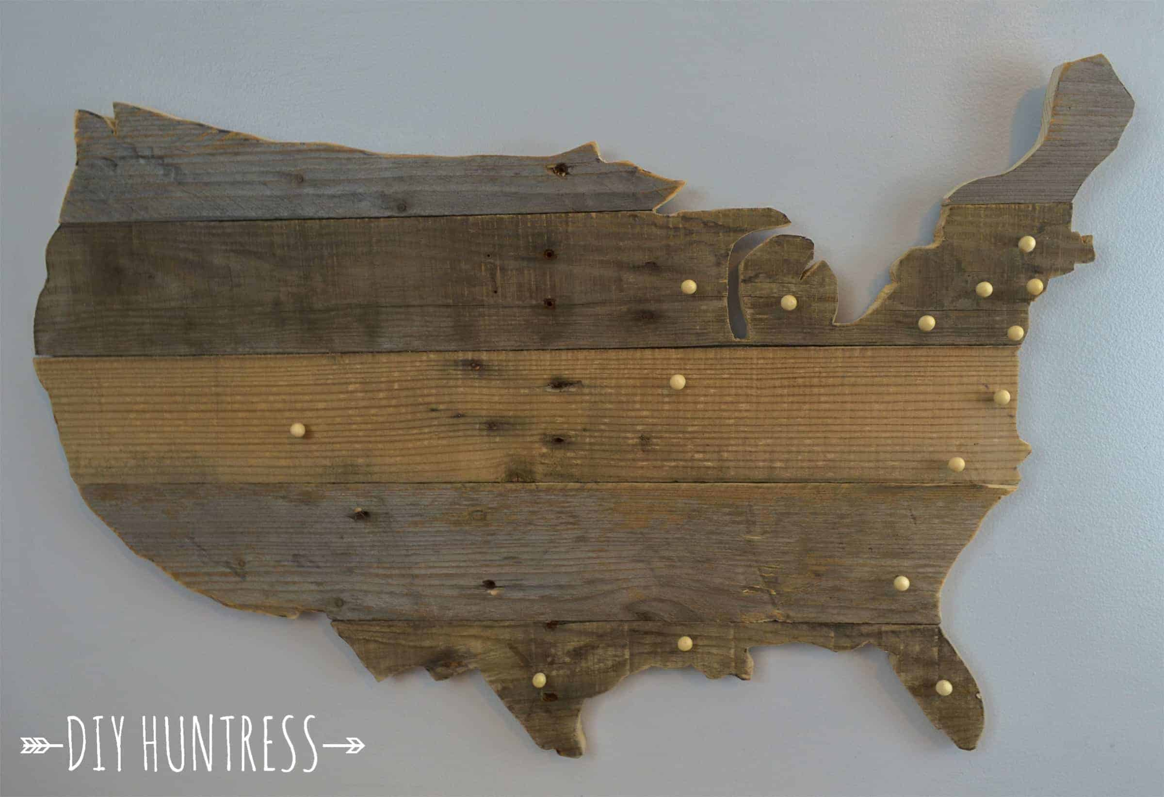 USA wood sign
