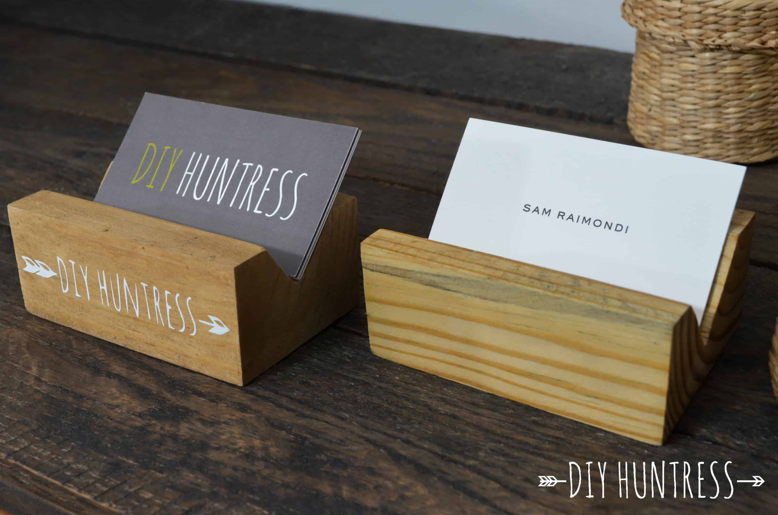 diyhuntressbusinesscardholder 15 - Diy Business Card Holder