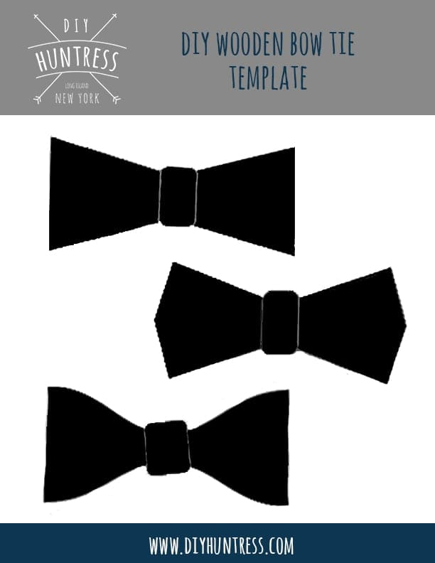 image about Bow Tie Printable referred to as Bow Tie Template - Do-it-yourself Huntress