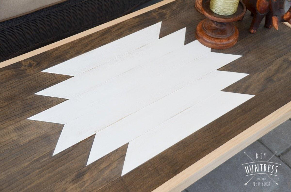 Geometric Wood Art Coffee Table
