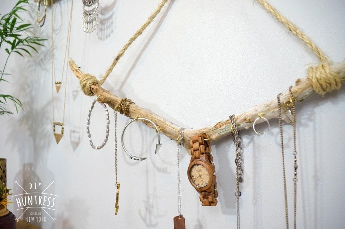 diy driftwood display