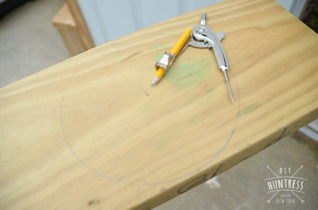 how to cut wooden wheels