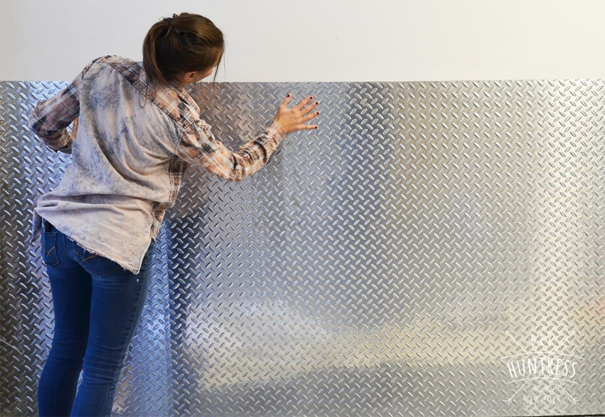 how to install diamond plate in garage