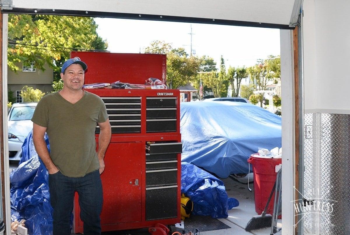 garage man cave decoration
